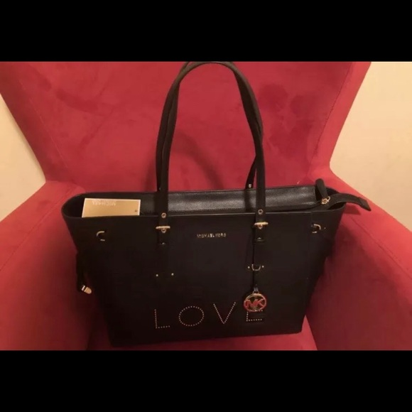 5cdfc95a3a31d7 MICHAEL Michael Kors Bags | Micheal Kors Vovager Love Tote New With ...